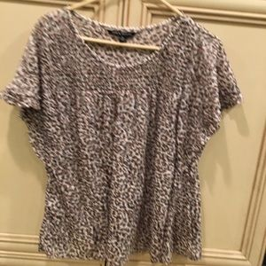 Leopard print blouse with flowy sleeves sz xL